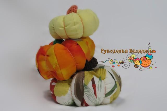 текстильная тыква, осенний декор, ручная работа, поделка в детский сад, рукоделки василисы