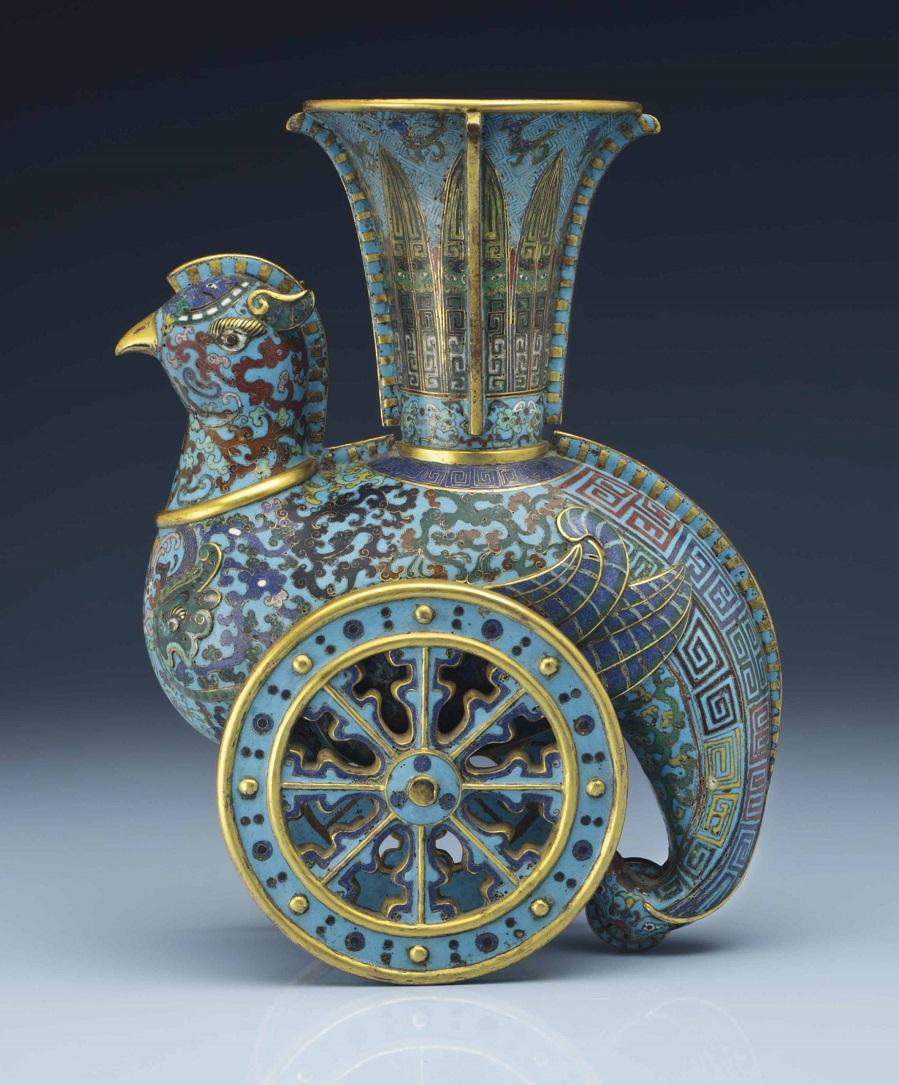 2014_NYR_02873_0621_000a_rare_cloisonne_enamel_archaistic_wheeled_phoenix-form_vase_zun_qianl.jpg