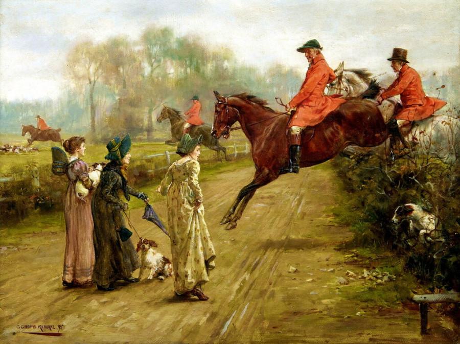 George_Goodwin_Kilburne_Watching_the_hunt_1895.jpg